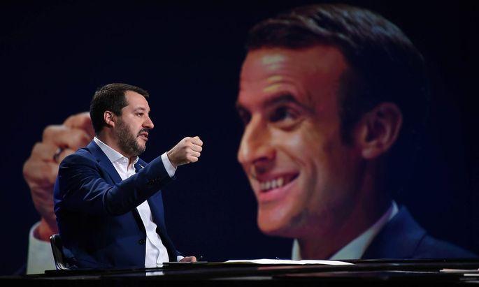 Rom Matteo Salvini zu Gast in TV Show Mezz ora in piu Foto IPP Gioia Botteghi Roma 09 12 2018 tras