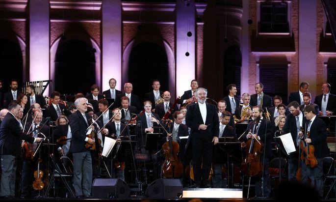 Wiener Philharmoniker unter Valery Gergiev (Archivibild: Sommernachtskonzert, September 2020).