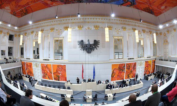 Archivbild: Der Plenarsaal des Nationalrats in der Wiener Hofburg.