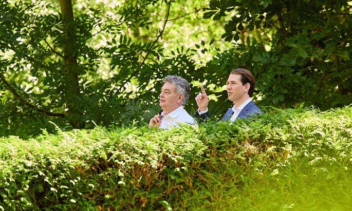 Ein Bild aus besseren Tagen: Vizekanzler Werner Kogler und Kanzler Sebastian Kurz.
