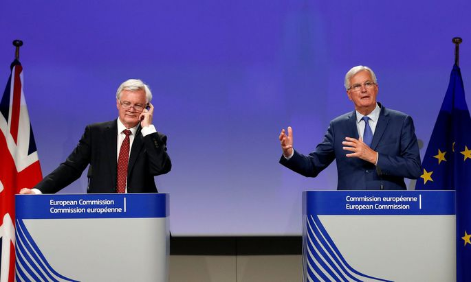 Zwischen ihnen liegen Welten: David Davis (links) und Michel Barnier.