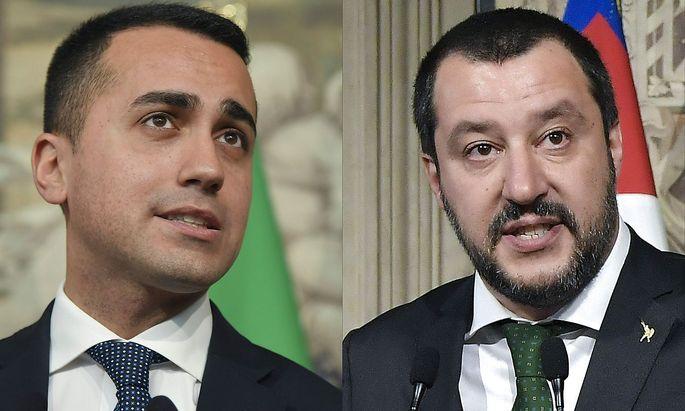 Luigi Di Maio und Matteo Salvini versuchen eine Regierung zu schmieden.
