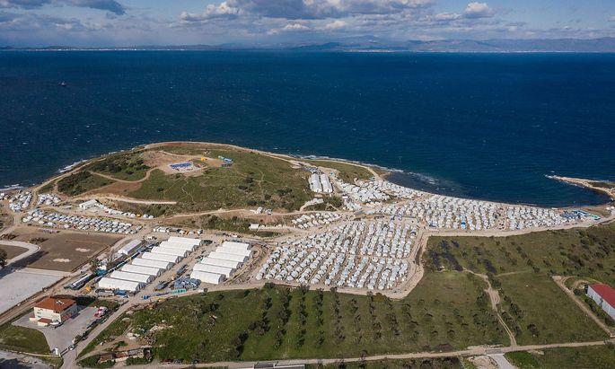 """Archivbild vom Lager Mavrovouni - auch """"Kara Tepe 2"""" genannt - auf Lesbos."""