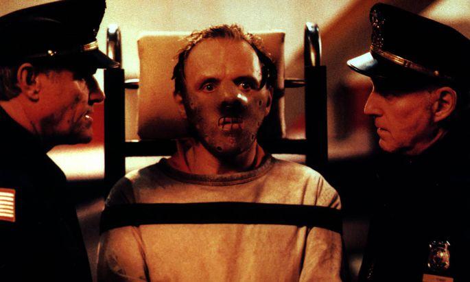 "Szene aus ""Das Schweigen der Lämmer"" (Anthony Hopkins als Hannibal Lecter)."