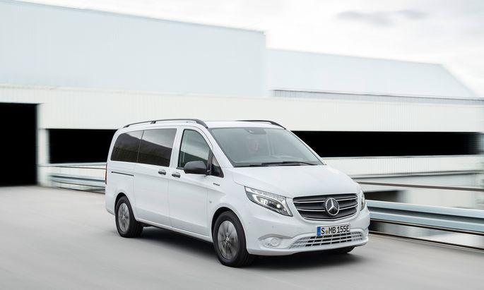Edeltransporter ohne Verbrennungsmotor: Mercedes e-Vito.