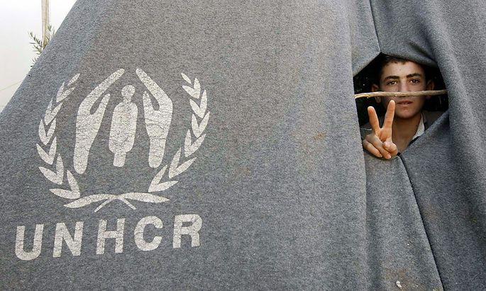 Flüchtling in einem syrischen Flüchtlingslager.