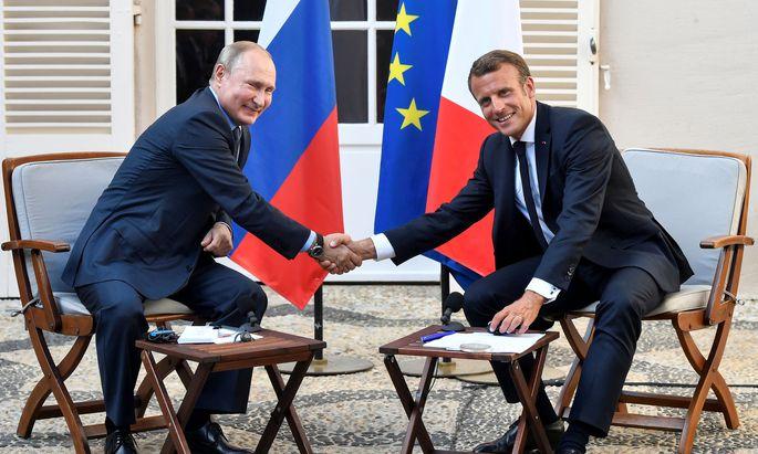 Archivbild von 2019: Putin und Macron