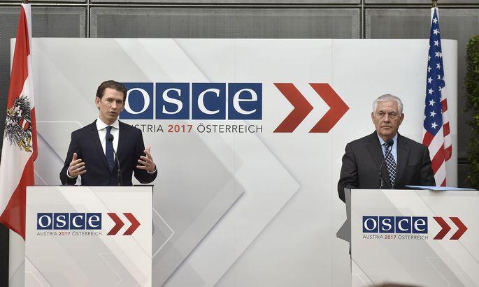 OSZE AUSSENMINISTERRAT: KURZ / TILLERSON