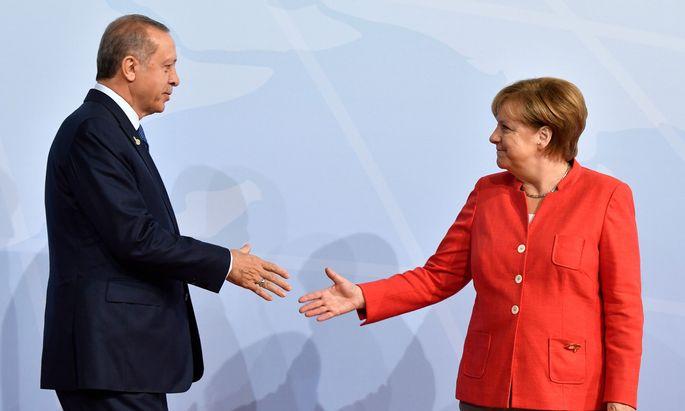 Recep Tayyip Erdoğan und Angela Merkel.