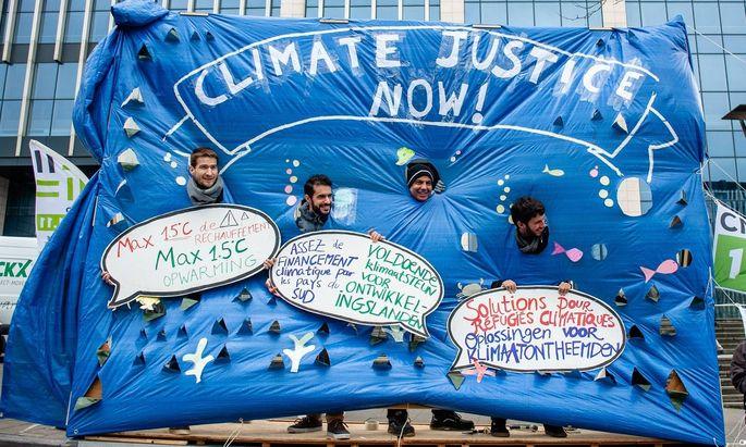 Proteste für ein entschlossenes Vorgehen in Sachen Klimaziele - anlässlich der 24. Uno-Klimakonferenz.