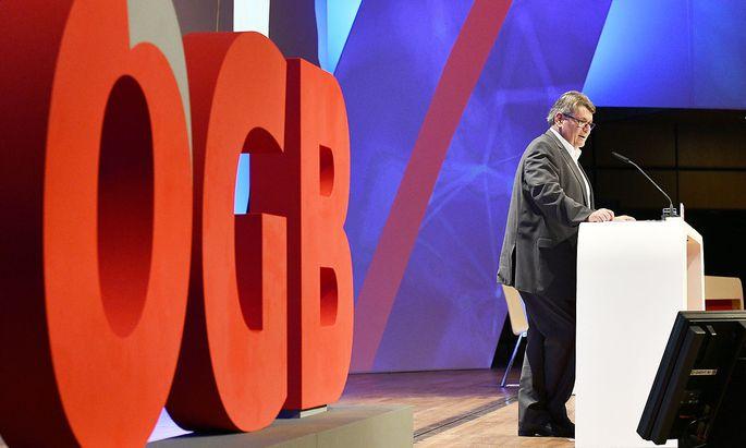 Wolfgang Katzian beim ÖGB Bundeskongress.
