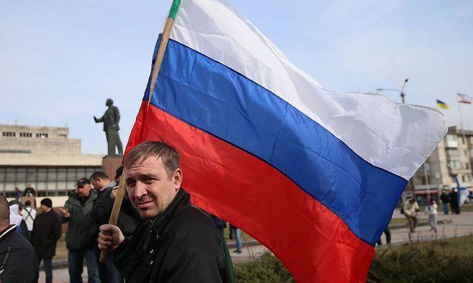Pro-russische Demonstranten in der Krim-Hauptstadt Simferopol