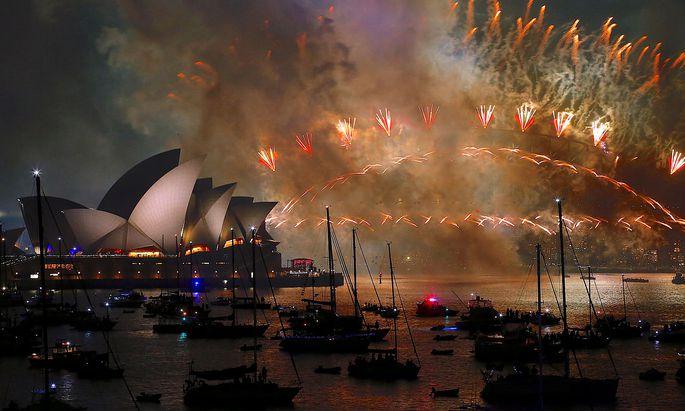 Symbolbild: Silvesterfeuerwerk in Sydney