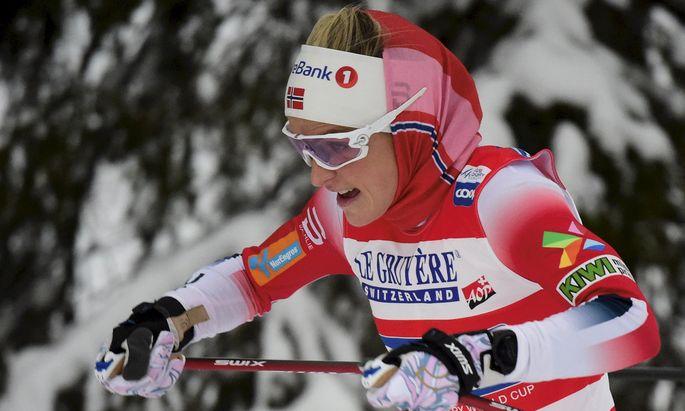 Zog einsam ihre Runden an der Spitze: Ausnahme-Langläuferin Therese Johaug.