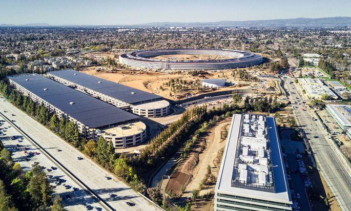 Die neue Apple Firmenzentrale in Cupertino Kalifornien.