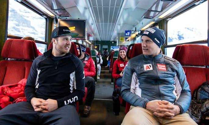 Seit Neuestem wieder in der ersten Reihe: Weltcup-Veteranen Christian Walder (l.) und Otmar Striedinger.