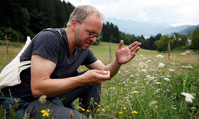 Christoph Fink bei der Waldtour in Millstatt.
