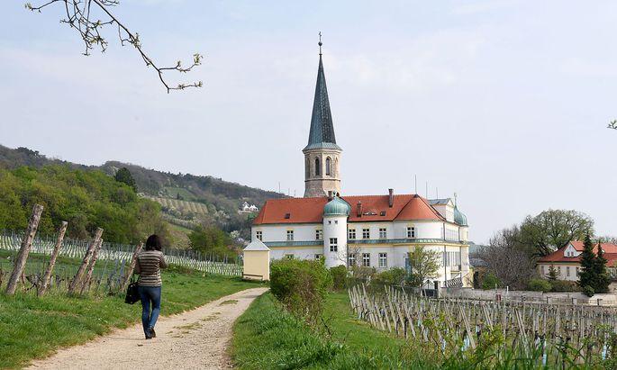 Begehrtes Pflaster: Gumpoldskirchen. Im Bild: Beethovengang und Kirche