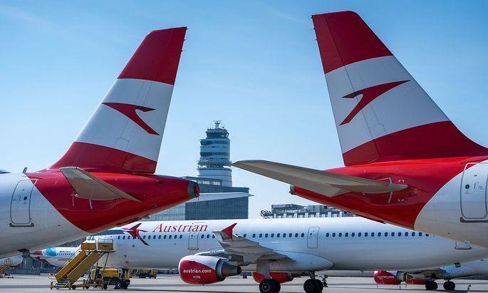 Fast alle AUA-Flieger werden derzeit am Flughafen Wien geparkt, manche - vor allem die Langstreckenmaschinen - kommen noch für Rückholaktionen zum Einsatz.