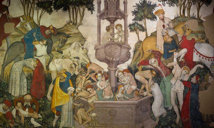 Wieder jung: So stellte ein Künstler im Castello della Manta im Piemont im 15. Jahrhundert sich das Mirakel vor.