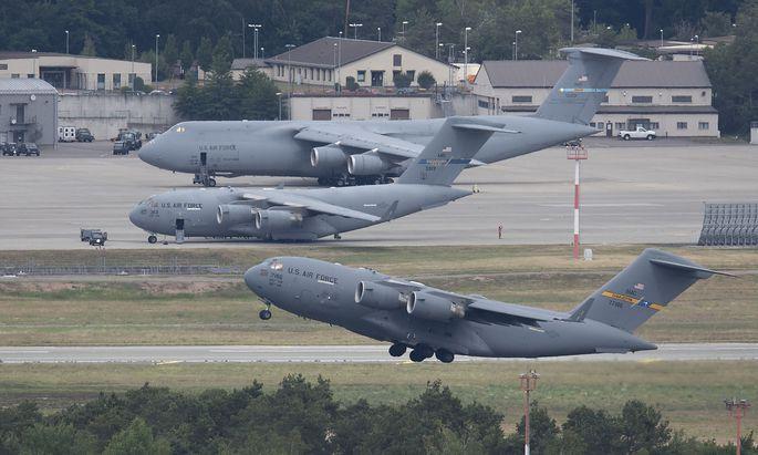 Die US-Luftbasis in Ramstein in Deutschland.