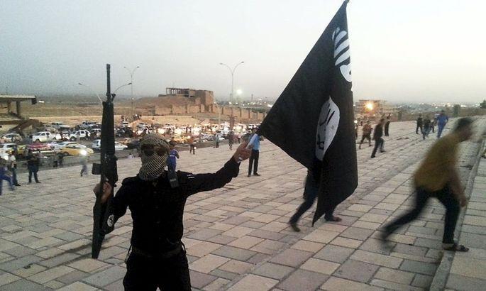 Ein IS-Anhänger in Mossul.