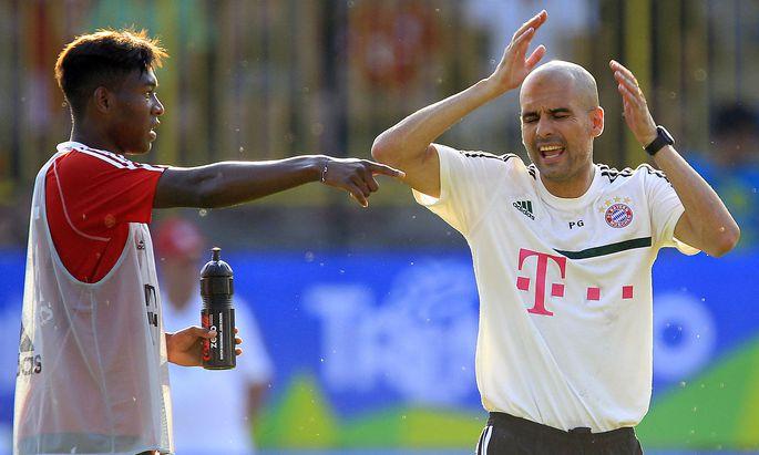 Alaba und Guardiola im Juli 2013, damals beide in Diensten des FC Bayern.