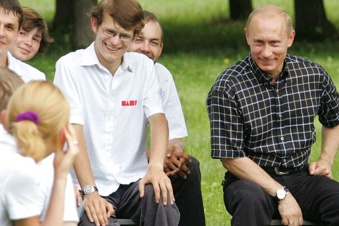 Naschi Jugendlicher PutinKult Russland