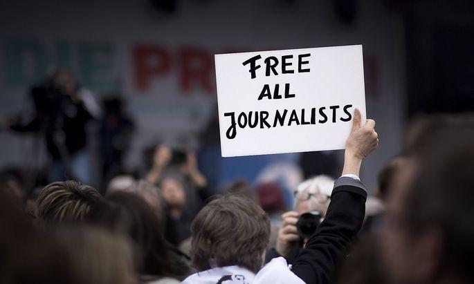 Demonstration für Pressefreiheit in Berlin (Archivbild aus dem Jahr 2017).