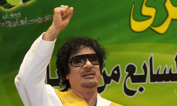 Gaddafi Gruene Wahlkampf