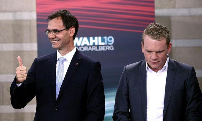 Markus Wallner (ÖVP) und Christof Bitschi (FPÖ)
