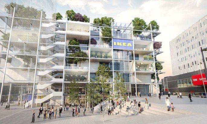 So wird das City-Ikea am Wiener Westbahnhof ausschauen