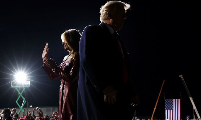 Melania Trump an der Seite ihres Gatten bei einer Wahlveranstaltung im Bundesstaat Georgia Anfang Dezember 2020.