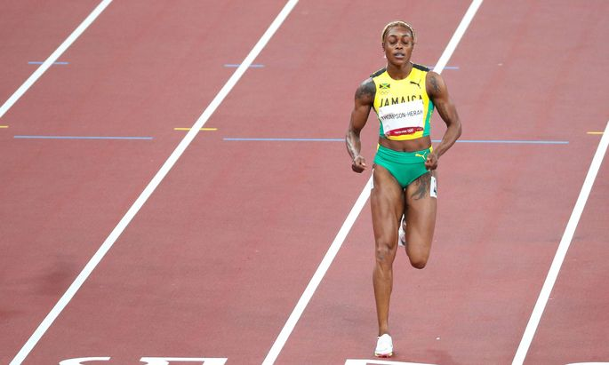 July 31, 2021, Koto, Tokyo, Japan: Elaine THOMPSON-HERAH of Jamaica in action during the Women s 100m semifinal at the