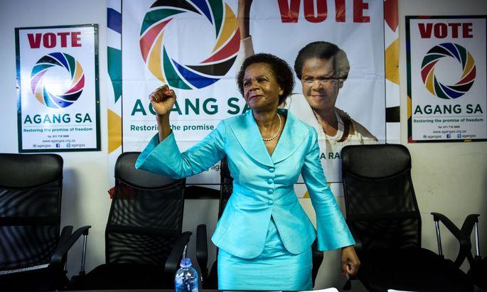 Mamphela Ramphele im Wahlkampf 2014 für die von ihr gegründete Partei Agang SA. Später schied sie aus der Politik aus.