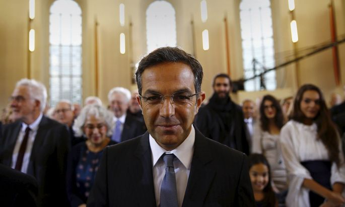 German writer Navid Kermani arrives for the ceremony to receive the Peace Prize of the German book trade (Friedenspreis des Deutschen Buchhandels) at the Church of St. Paul in Frankfurt