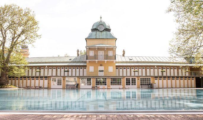 Das Thermalbad Bad Vöslau, das schon in der Antike bekannt war, erstreckt sich über eine Fläche von 45.000 Quadratmeter.