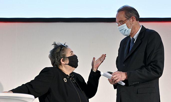 Die grüne Wissenschaftssprecherin Eva Blimlinger und Wissenschaftsminister Heinz Faßmann hier im Bild bei einem früheren Hintergrundgespräch.