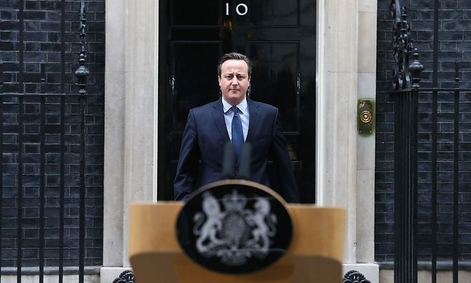 David Cameron nach einem Kabinettsmeeting am Samstag.