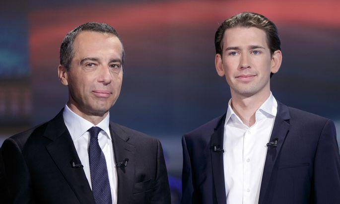 Christian Kern (l.) musste nach der Nationalratswahl 2017 das Kanzleramt an Sebastian Kurz übergeben.