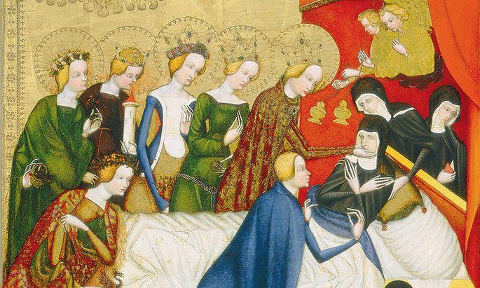 Diese Finger! Der Tod der heiligen Klara (vorn die heilige Agnes von Böhmen).