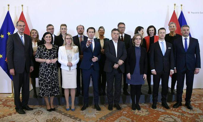 """""""Familienfoto"""": Die Angelobung von Türkis-Grün"""