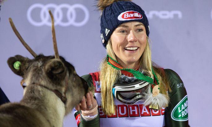 Mikaela Shiffrin steigt in Finnland in den Ski-Weltcup ein. Ob sie wieder ein Rentier gewinnt?