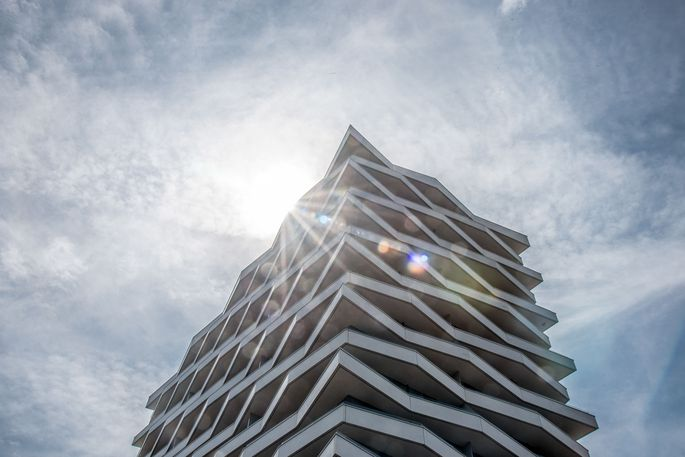 """Die Mietwohnungen im Linzer Wohn-Hochhaus """"Lenau Terrassen"""" sind ab Oktober bezugsfertig"""