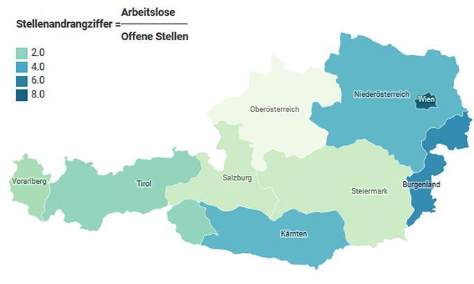 Österreich: Stellen-Andrang