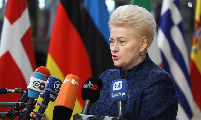 Dalia Grybauskaitė darf nach zwei Amtszeiten nicht mehr antreten.
