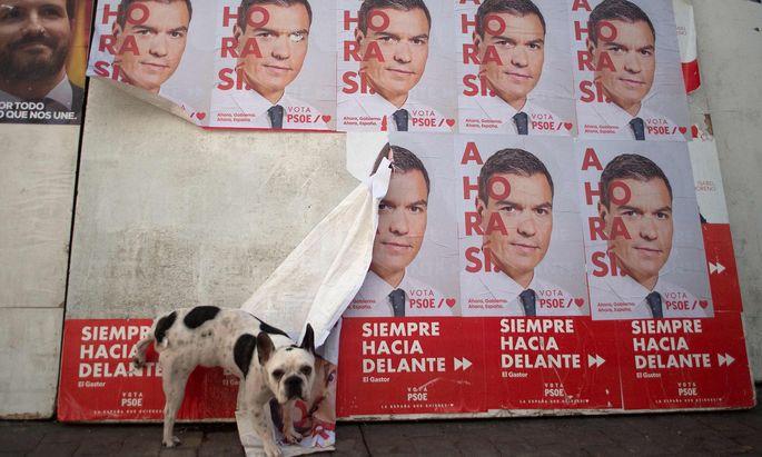 Pedro Sanchez' Sozialisten wurden stärkste Kraft, doch für eine Regierungsmehrheit reicht es vermutlich wieder nicht.