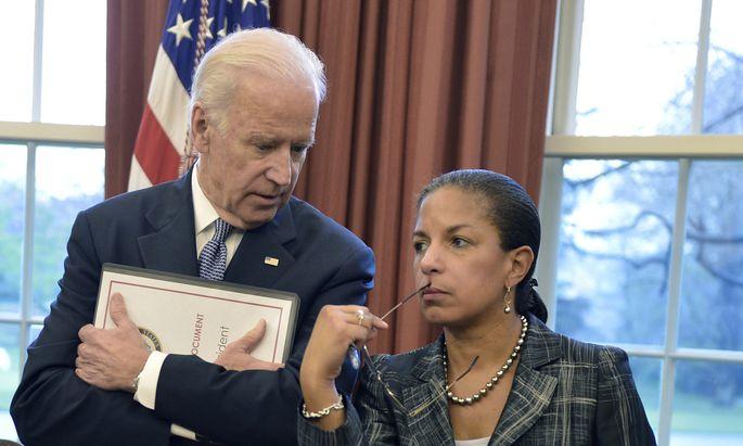 Joe Biden mit Susan Rice, seiner Favoritin als Außenministerin.