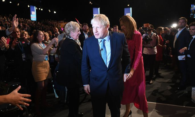 . 02/10/2019. Manchester , United Kingdom. Conservative party Conference- Day Four. The Prime Minister Boris Johnson Wi