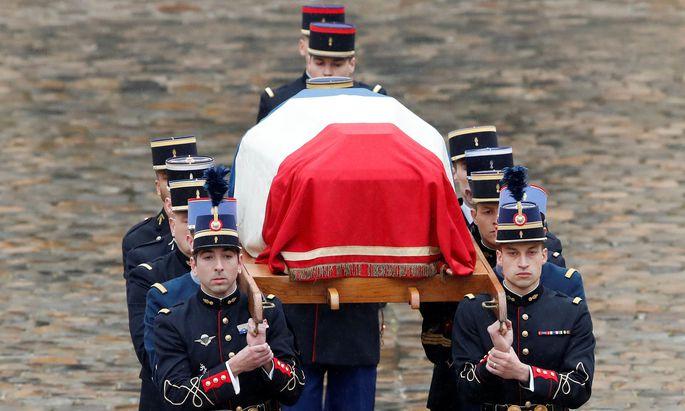Frankreich nahm Abschied von dem getöteten Gendarmen Arnaud Beltrame.